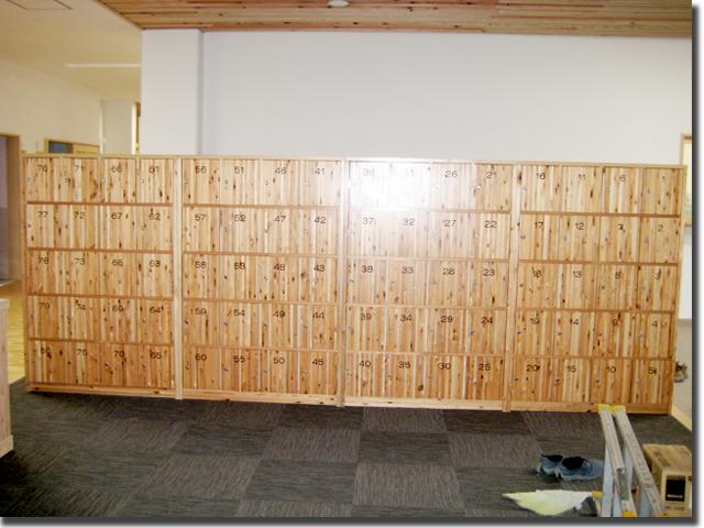 校舎用げた箱のオーダー製作・宮城県登米市