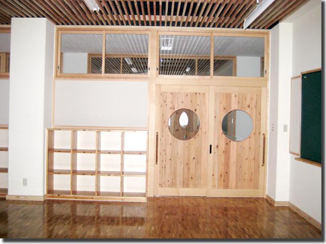 学校教室用の木製オーダー扉