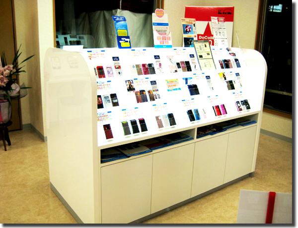 携帯ショップ・携帯電話用飾り棚(オーダー家具) 宮城県大崎市