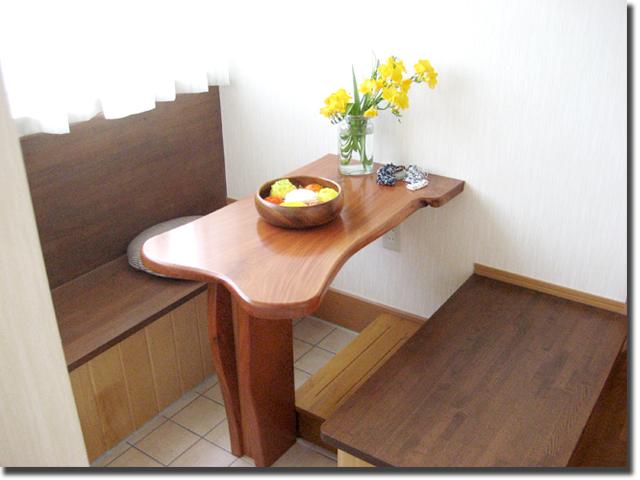 店舗用オーダー家具 応接ウッドテーブル・イスのセット