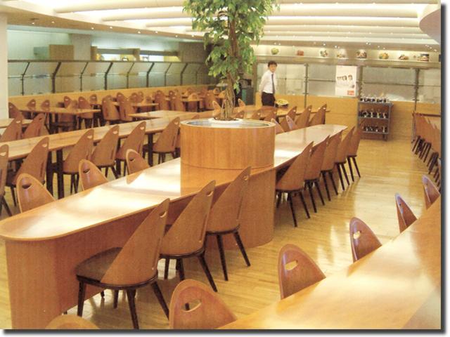 社員食堂用のビックテーブル(宮城県仙台市)